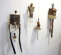 """The Disarmed by Janet Van Fleet. Mixed media. On display at the """"Off the Wall"""" exhibit at Studio Place Arts in Barre, VT"""