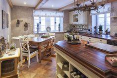 Rustikale Küche Im Landhausstil