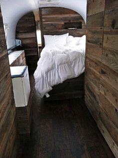 The Local Branch airstream - this bed actually seems okay, and I could even handle the bathroom across the back.