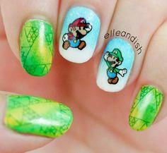 Mario & Luigi nails!! Yay!
