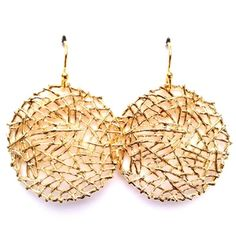 Gold Vermeil Nest Earrings | Only available at Peyton William. www.peytonwilliam.com