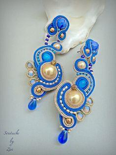 Objects just like Cobalt blue assertion soutache earring beaded Blue Earrings, Beaded Earrings, Pearl Earrings, Presents For Women, Gifts For Women, Bridesmaid Earrings, Wedding Earrings, Shibori, Diy Tattoo