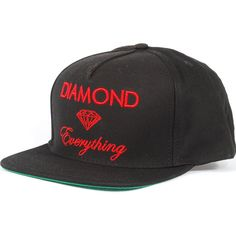 Diamond Everything Snapback Hat (Black/Red) $39.95