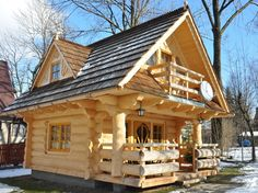 I want one. Little Log House ~ Design 1 ~