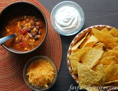 Southwest Taco Soup - You can make up a big batch in the crock pot and freeze the leftovers in individual containers – it reheats really well.