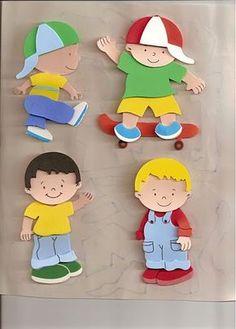 Niños de goma eva