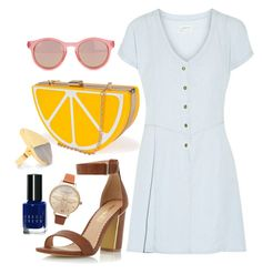 """""""Day outfit #2"""" by hannahelisee on Polyvore #lemonclutch #sandals #loosedress"""