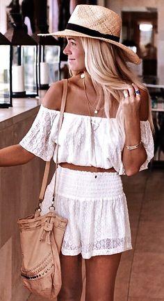 Crop top & shorts