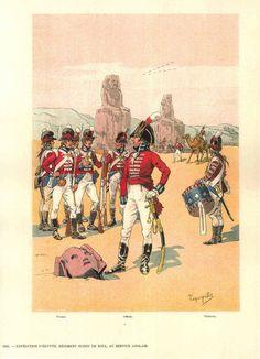 British; De Roll's Regiment of Infantry( a Swiss regiment in British service), Egypt, 1800