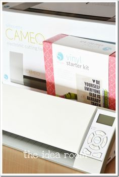 on my list of dreamy wants... A silhouette cameo. good intro to the Silhouette Cameo