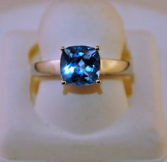 Blue Topaz in Sterling Silver Ring | eBay