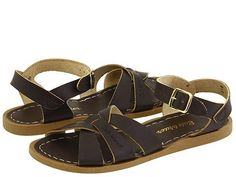 Salt Water Sandals: Original Sandal (Brown) The classic style of Hoys Salt Water Leather Sandals have remained a summer staple for years. Children look great whether dressing up or down in these traditional water friendly designs. Salt Water Sandals are classic, durable, fashionable and remain a summertime favorite. They will continue to stand the test of time for years to come.