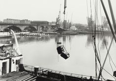 "BW192-3-1-34-7-5: ""Fleet of narrowboats from Commercial Road Lock at Regent's Canal Dock"""