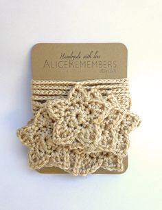 LOVE Star Garland Crochet Garland home decor fall by AliceRemembers, $25.00