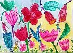 Illustrations, observations and comic drawings about life and love. Comic Drawing, Some Times, Spring Flowers, Easter, Illustrations, Seasons, Drawings, Pretty, Floral