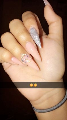 Gorgeous Nail Designs For Special Events Gel Uv Nails, Glitter Gel Nails, Stiletto Nails, Acrylic Nails, Acrylics, Dope Nails, Nails On Fleek, Fun Nails, Nagel Hacks