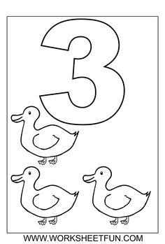 Free Numbers Coloring Worksheets. Pinned by Generation iKid.