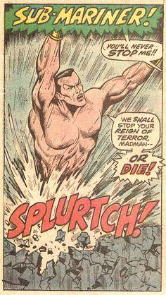 Sub-Mariner! (by Bill Everett from Sub-Mariner #53, 1972)