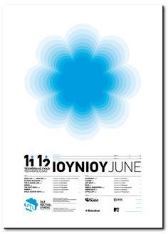 tilt festival athens, by george strouzas - typo/graphic posters Blue Poster, Type Posters, Branding, Print Layout, Birthday Design, Grafik Design, Graphic Design Typography, Design Reference, Graphic Design Inspiration