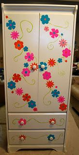 Refinished cabinet for the craft room