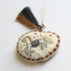 an embroidered strap