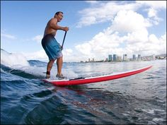 Stand up paddle boarding, a great way to commune with nature and get a total body workout!