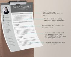 This Professional resume template is just what you need to freshen up that old resume! Creative and Sophisticated while still being professional. Cv Simple, Simple Resume, Resume Writing Tips, Writing Skills, Modern Cv Template, Creative Cv, Cover Letter Template, Professional Resume, The Help