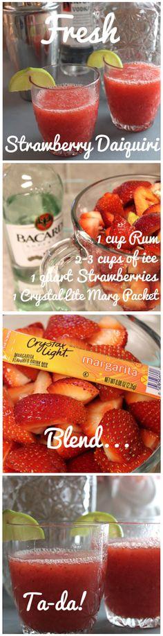 Thirstday Cocktails: Fresh Strawberry Daiquiris