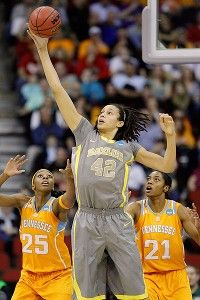 Brittney Griner is the center for the 39-0 Baylor Bears. You might have heard of her lately - in March, she became the second woman to dunk in the NCAA Women's Basketball Tournament. Brittney and the Bears take on the Notre Dame Fighting Irish tonight for the NCAAW championship, and the chance for a perfect 40-0 season record.