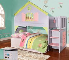 Loft Bed with Playhouse Underneath | ... loft bed what could be more fun than her very own playhouse loft bed