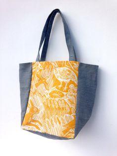 Harvest Hare by Mark Hearld Market Bag by didyoumakeityourself