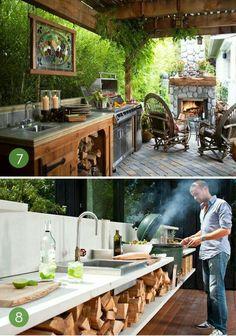 Cocina en terraza