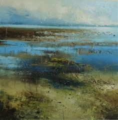 Abstract landscape paintings by Claire Wiltsher Abstract Landscape Painting, Seascape Paintings, Watercolor Landscape, Landscape Art, Landscape Paintings, Abstract Art, Encaustic Art, Beginner Painting, Naive Art