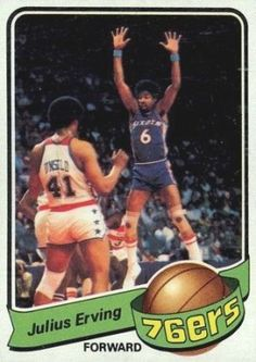 julius erving basketball cards | 1979 Topps Julius Erving #20 Basketball Card