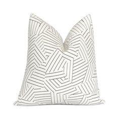 Schumacher Deconstructed Stripe Black Throw Pillow Cover with Zipper, Linen Euro Sham Cushion Case, Designer Pillows Black Throw Pillows, Linen Pillows, Decorative Throw Pillows, Black Pillow Covers, 20x20 Pillow Covers, Handmade Pillow Covers, Handmade Pillows, Designer Pillow