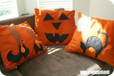 Dress up your house with some fun Halloween pillows!