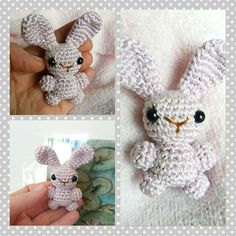 Shiny and creamy, tiny bunny brooch  :)