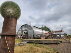 The Noorderlicht Cafe, one of the interesting things to see at teh NDSM Werf. Follow the link to see more. http://mikestravelguide.com/things-to-do-in-amsterdam-visit-the-ndsm-werf-in-amsterdam-noord/