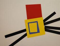 Adventures of an Art Teacher: Mondrian-Inspired Paper Pictures