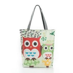 Cheap canvas handbag, Buy Quality women bag directly from China casual bag Suppliers: Women Bag Floral And Owl Printed Canvas Tote Female Casual Bags Large Capacity Single Shopping Bag Daily Use Canvas Handbags Canvas Handbags, Tote Handbags, Canvas Tote Bags, Crossbody Bags, Canvas Totes, Small Handbags, Bags Travel, Insta Look, Casual Bags
