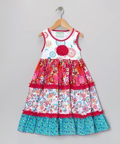 Take a look at this Pink Field of Flowers Katie Dress - Infant, Toddler & Girls by Sage & Lilly on #zulily today!