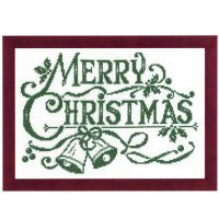 Green Christmas Counted Cross Stitch Kit