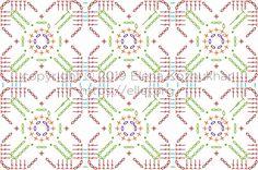 Crochet Stitches Chart, Crochet Doily Patterns, Crochet Borders, Crochet Diagram, Crochet Motif, Crochet Doilies, Knitting Patterns, Crochet Flower Tutorial, Crochet Instructions