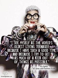 Iris Apfel, 92-year-old fashion icon