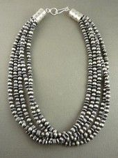 Navajo Pearls: Navajo Silver Bead Necklace | Southwest Silver Gallery