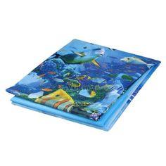 180x180 cm Tecido Banheiro Cortina de Chuveiro À Prova D' Água Vida Marinha Luz Azul Cortinas De Chuveiro de Alta Qauliyt