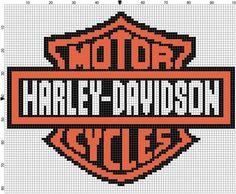 Harley Davidson Graph to Make a Afghan Graph Crochet, C2c Crochet, Afghan Crochet Patterns, Loom Patterns, Beading Patterns, Fillet Crochet, Crochet Afghans, Free Crochet, Cross Stitching