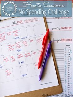 We're starting this month with a no spending challenge! How can you survive a fiscal fast without going crazy? Or failing? You need a plan. Get one in four simple steps! :: DontWastetheCrumbs.com #livingwell #prettyperfectliving #inspirational #bestyou #improvement #living #life