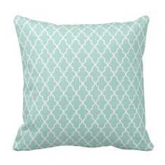 Mint Quatrefoil Pillows