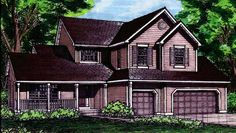 Home Plan HOMEPW03969 - 2840 Square Foot, 4 Bedroom 3 Bathroom + Cottage Home with 2 Garage Bays | Homeplans.com